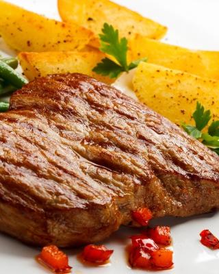 Steak and potatoes - Obrázkek zdarma pro 768x1280