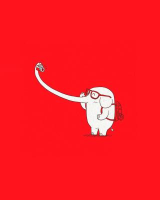 Elephant On Red Backgrpund - Obrázkek zdarma pro Nokia C1-01