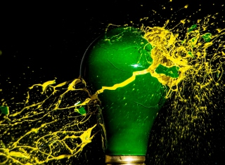Bulb Explosion Background for Android, iPhone and iPad