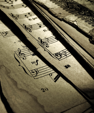 Old Music Sheets - Obrázkek zdarma pro Nokia X6