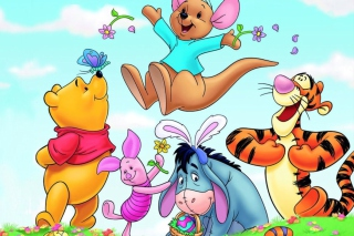 Winnie The Pooh Easter Background for Android, iPhone and iPad