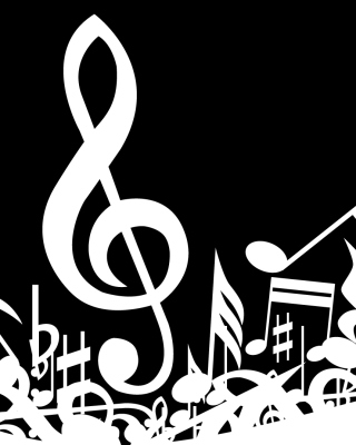 Music Background - Obrázkek zdarma pro 128x160