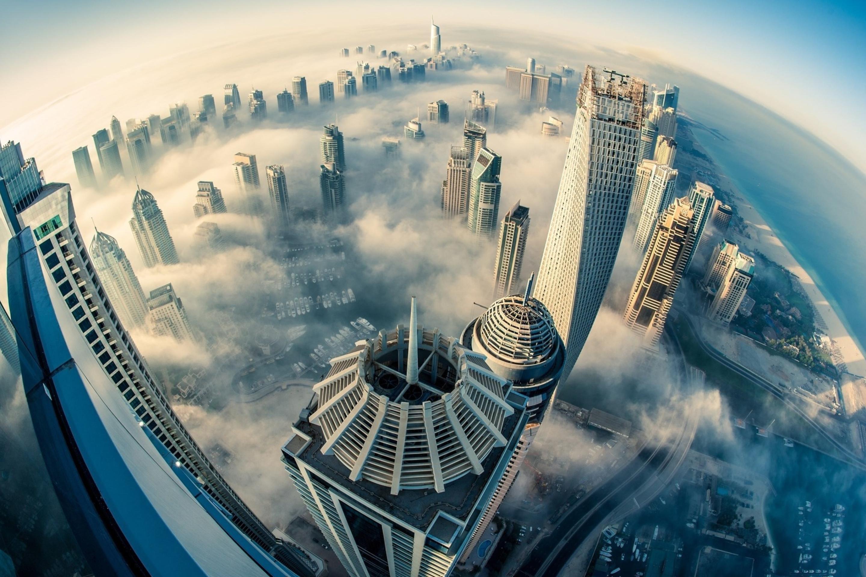 страны архитектура небоскреб рассвет Дубаи объединенные арабские эмираты  № 2209873 без смс