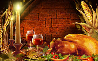 Thanksgiving Dinner Background for Android, iPhone and iPad
