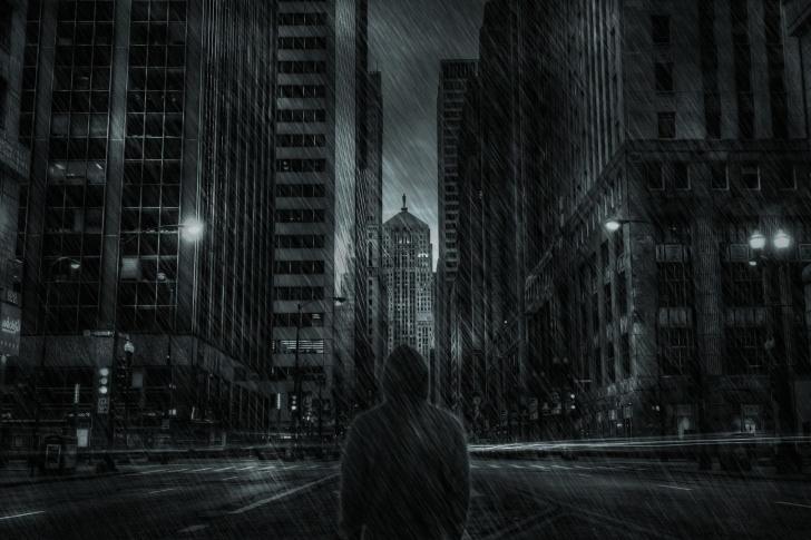 Dark City HD wallpaper