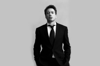 Robert Downey Junior Black Suit Background for Android, iPhone and iPad