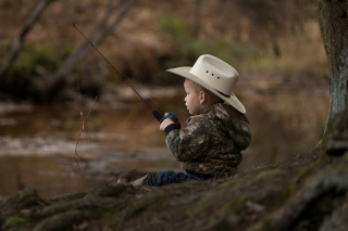 Fisherman Kid Wallpaper for Android, iPhone and iPad