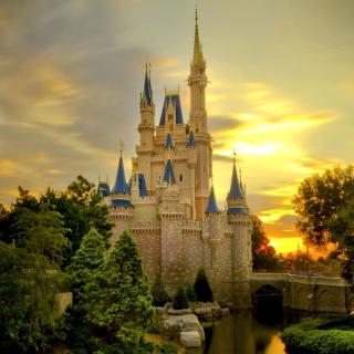 Disneyland Castle - Obrázkek zdarma pro 128x128