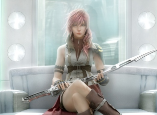 Lightning - Final Fantasy - Obrázkek zdarma pro 1366x768