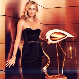 Charlize Theron on Oscar Awards - Obrázkek zdarma pro 128x128