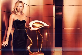 Charlize Theron on Oscar Awards - Obrázkek zdarma pro 176x144