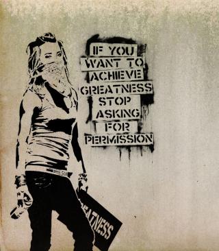 Graffiti Motivation Statement - Obrázkek zdarma pro Nokia C2-00