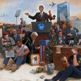 Obama USA President - Obrázkek zdarma pro 1024x1024