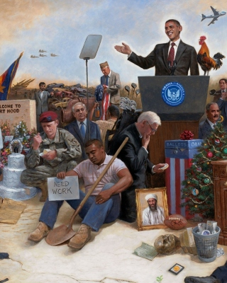 Obama USA President - Obrázkek zdarma pro iPhone 6 Plus