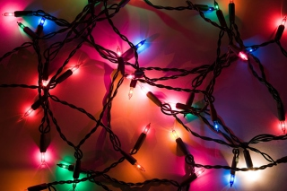 Holiday Lights Background for Android, iPhone and iPad