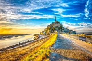 Normandy, Mont Saint Michel HDR Wallpaper for Android, iPhone and iPad