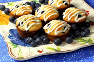 Blueberry Muffins Background for Android, iPhone and iPad