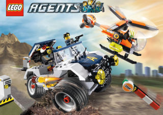 Lego Agents Background for Android, iPhone and iPad