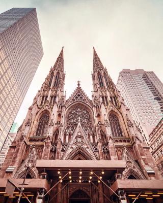St Patricks Cathedral In New York - Obrázkek zdarma pro Nokia 206 Asha