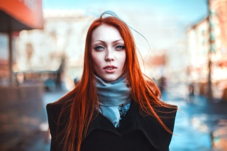 Gorgeous Redhead Girl Background for Android, iPhone and iPad
