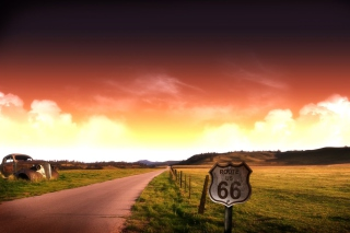 Free Adventure Route 66 Landscape Picture for Android, iPhone and iPad
