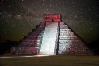 Chichen Itza Pyramid in Mexico Background for Android, iPhone and iPad