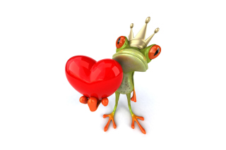 Valentine's Day Frog Background for Android, iPhone and iPad