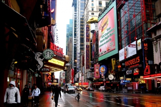 Street in Manhattan Borough, New york Picture for Android, iPhone and iPad