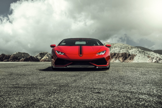 Lamborghini Huracan LP 610 4 Red Wallpaper for Android, iPhone and iPad