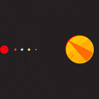 Solar System with Uranus - Obrázkek zdarma pro 320x320