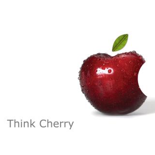 Apple Funny Logo - Obrázkek zdarma pro iPad