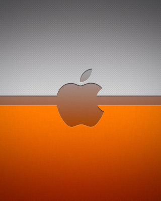 Grey And Orange Apple Logo - Obrázkek zdarma pro Nokia Lumia 822