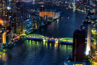 Tokyo At Night Background for Android, iPhone and iPad