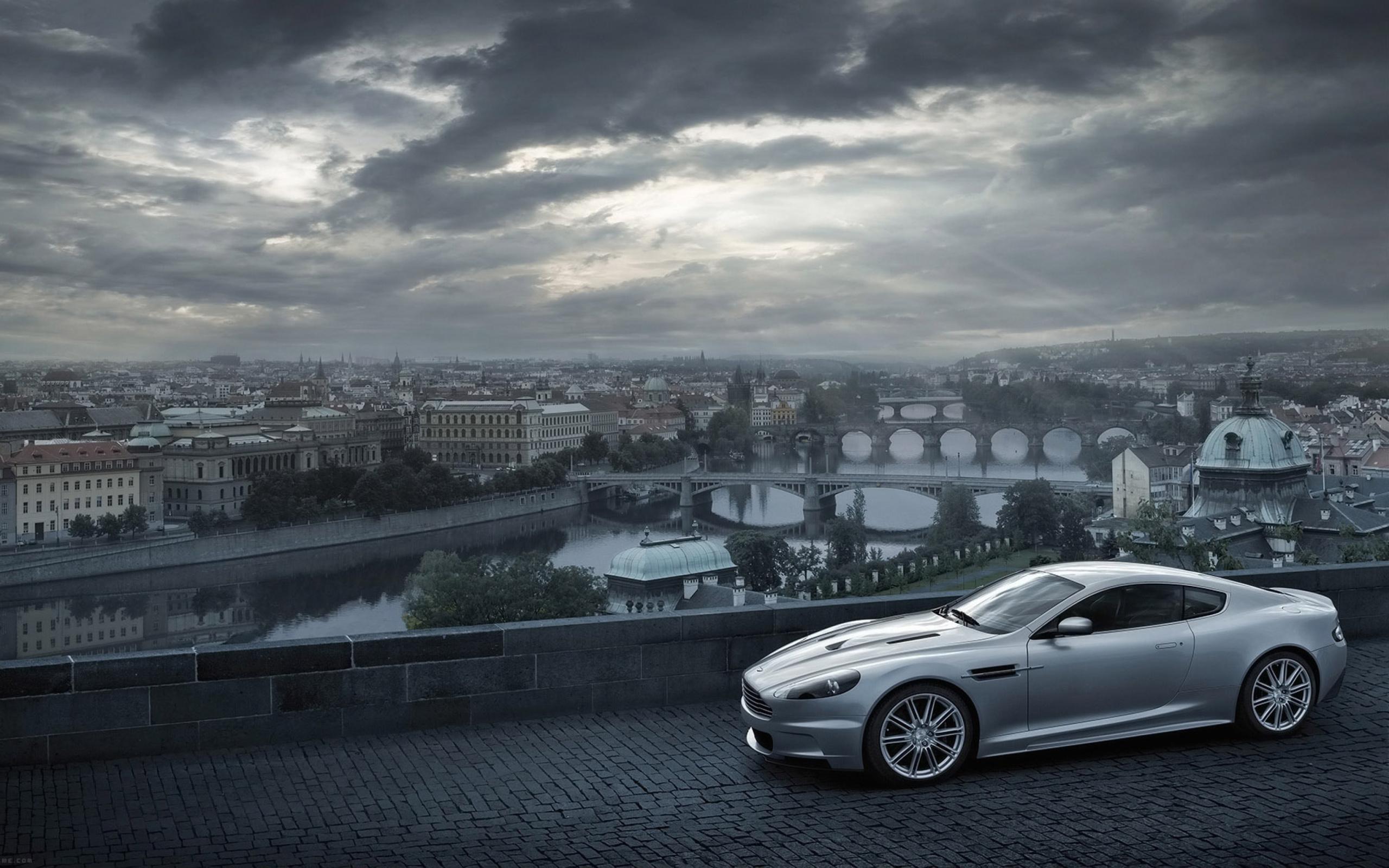 Aston Martin суперкар ночь город  № 2374799 загрузить