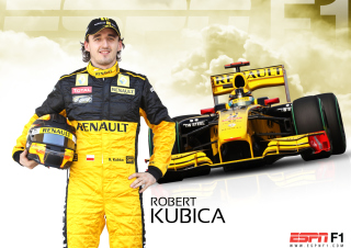 Renault Formula 1 - Robert Kubica Picture for Android, iPhone and iPad