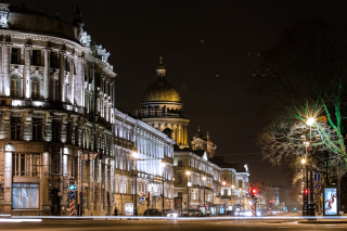 Saint Isaacs Cathedral in Petersburg Background for Android, iPhone and iPad
