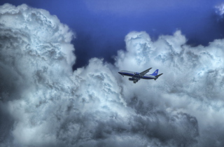 Airplane In Clouds Wallpaper for Android, iPhone and iPad
