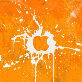 Apple Orange Logo - Obrázkek zdarma pro iPad 2