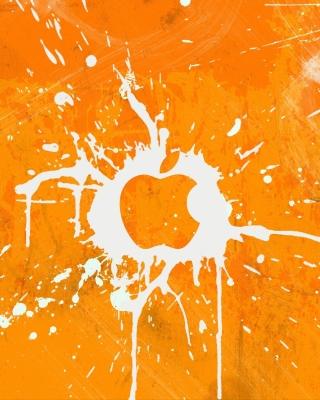 Apple Orange Logo - Obrázkek zdarma pro iPhone 4