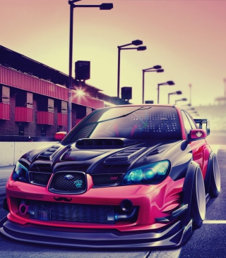 Subaru Impreza Super Tuning - Obrázkek zdarma pro iPhone 4