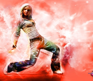 Break Dance Hot Girl - Obrázkek zdarma pro 1024x1024