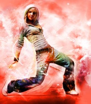 Break Dance Hot Girl - Obrázkek zdarma pro iPhone 4S