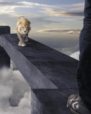 Advertisement with Lion - Obrázkek zdarma pro Nokia Lumia 720