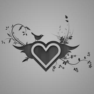 Bird Singing In Heart - Obrázkek zdarma pro 128x128