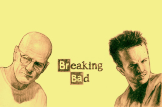 Walter White and Jesse Pinkman in Breaking Bad - Obrázkek zdarma pro LG P970 Optimus