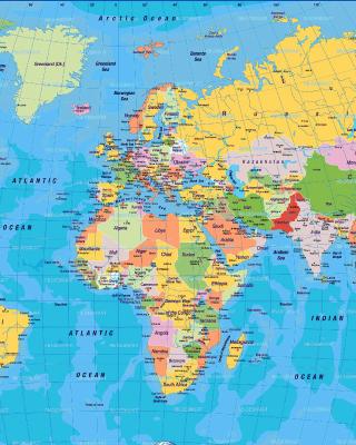 World Map - Obrázkek zdarma pro iPhone 4