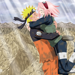 Uzumaki Naruto and Haruno Sakura - Obrázkek zdarma pro iPad Air