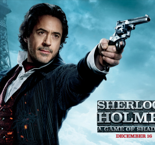 Robert Downey Jr In Sherlock Holmes 2 - Obrázkek zdarma pro iPad 3