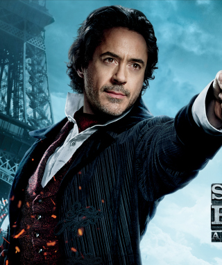 Robert Downey Jr In Sherlock Holmes 2 - Obrázkek zdarma pro Nokia C2-01