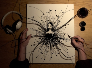 3D Drawing Wallpaper for Android, iPhone and iPad